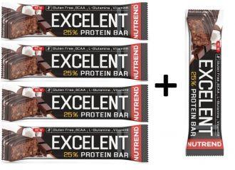 Akce 4+1 zadarmo Nutrend Excelent Proteín bar 85g