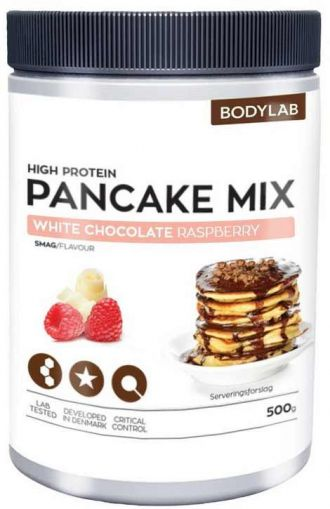 Bodylab Zero High Proteín Pancake Mix 500g biela čokoláda malina