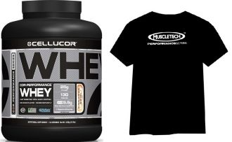 CELLUCOR COR-Performance Whey 1800g + Muscletech HYDROXYCUT Pre Clinical 60cps. + Tričko + Bag
