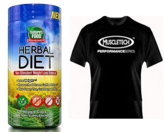Nature´s Food Herbal Diet 120 kps + triko Muscletech