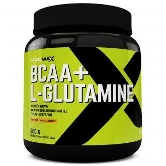 Vitalmax BCAA + L-GLUTAMINE 500g pomeranč