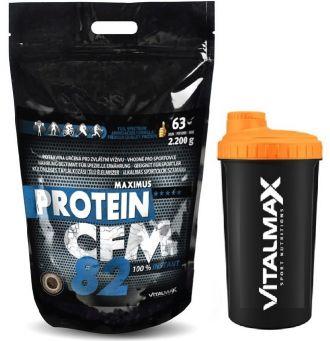 Vitalmax PROTEIN CFM 82 instant / 2200g + Vitalmax Šejker NEON 700ml