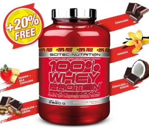 LIMIT EDITION Scitec 100% Whey Proteín Professional 2820 g