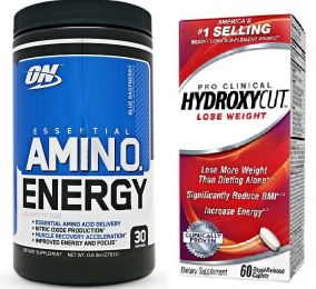 Optimum AmiN.O. ENERGY 270g + HYDROXYCUT Pre Clinical 60cps.