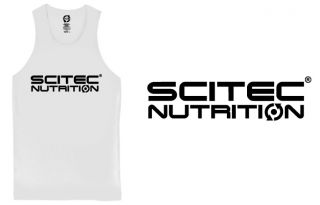 Scitec NORMAL TANK TOP WHITE